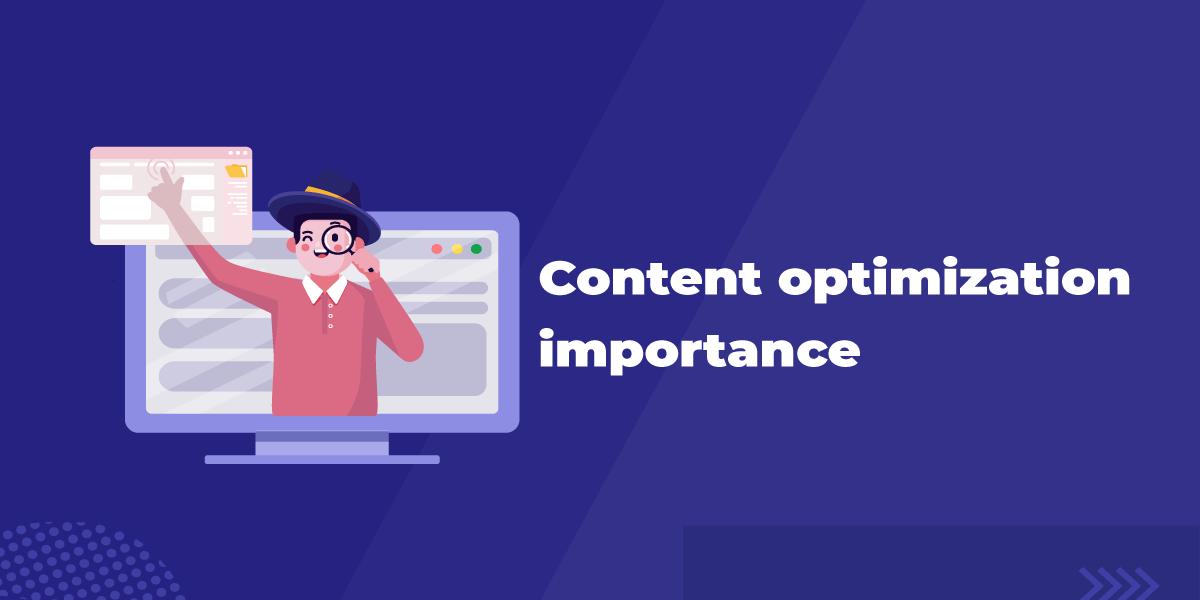Content optimization blog header