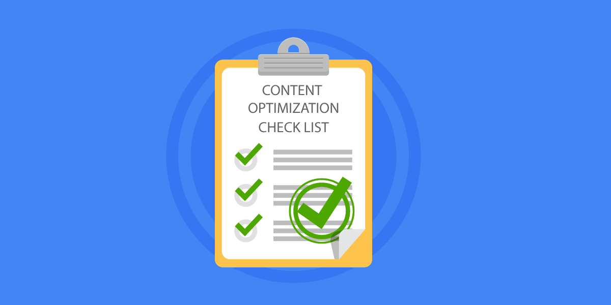 Content optimization checklist blog header