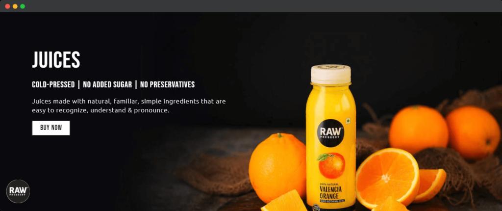 Raw Pressery improve health marketing angle