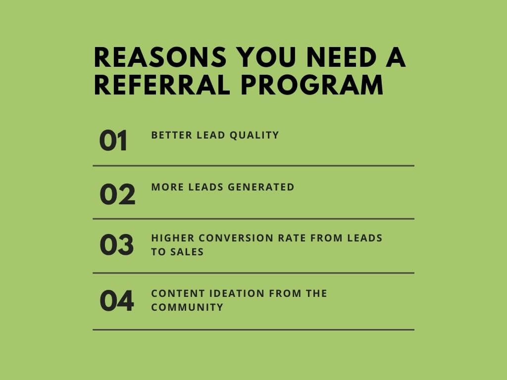 Reasons you need a referral program