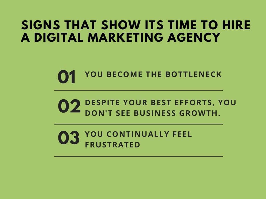 Signs that its time to hire a digital marketing agency