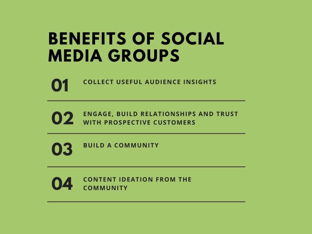 Social groups benefit for organic marketing