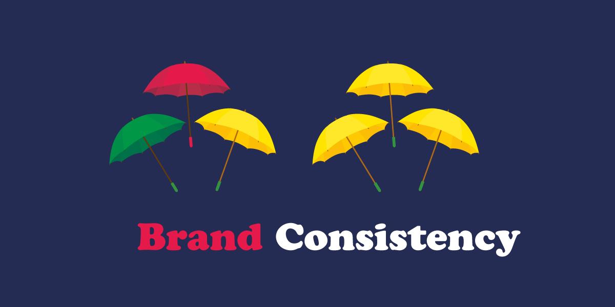 Brand consistency header