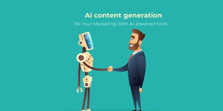 Ai content generation blog header