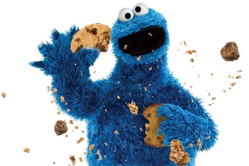 Cookie Monster cookie crumbs