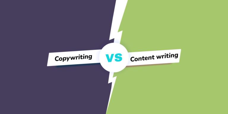 copywriting vs. content writing header